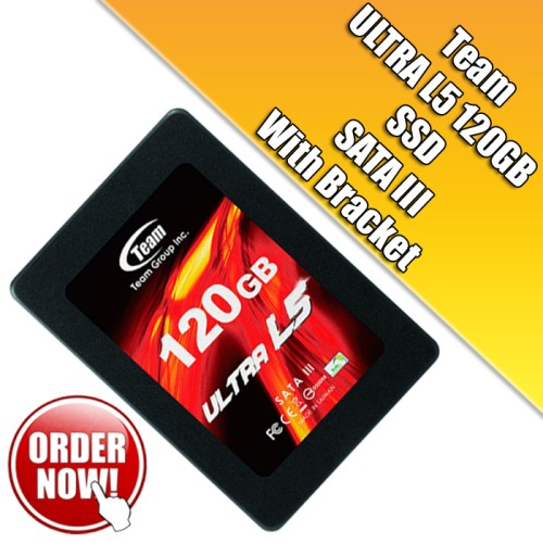 Foto Produk Team SSD ULTRA L5 120GB - Hitam Garansi 3 Tahun dari Upi Like Store