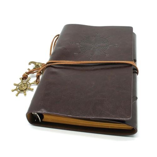 Foto Produk Buku Binder Kulit Pirate/ Buku Harian/Buku Memo/Buku Agenda dari de_er store