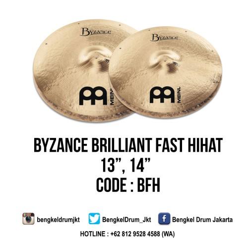 "Foto Produk Meinl Cymbal Byzance Brilliant Fast HiHat 13"" (Thomas Lang Signature) dari Bengkel Drum Jakarta"