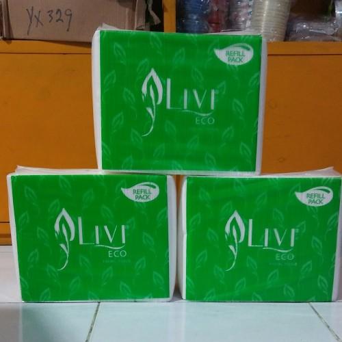 Foto Produk Tissue LIVI ECO FACIAL REFILL 600's dari HEMAT-HEMAT STORE
