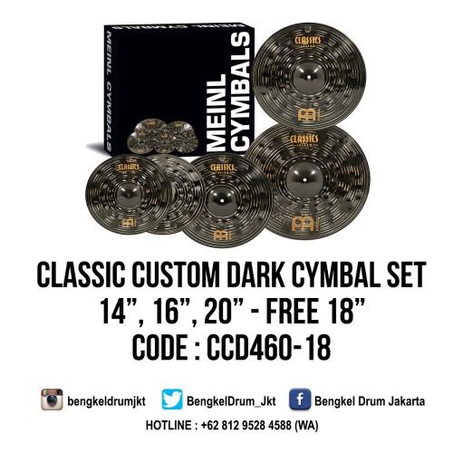 "Foto Produk Meinl Cymbal Classic Custom Dark Cymbal Set 14"", 16"", 20"" +18"" dari Bengkel Drum Jakarta"