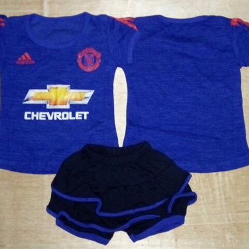 Foto Produk Setelan Bayi cewek /Baju Bola Anak perempuan Rok Manchester United MU dari Gerai HappyTummy
