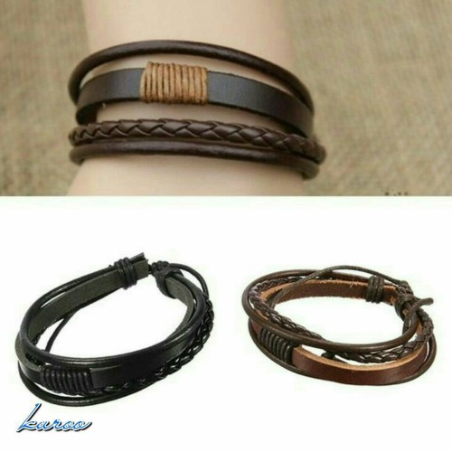 Foto Produk gelang kulit tali layer pria wanita leather bracelet unisex dari DayLight