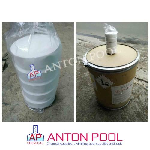 Foto Produk Kaporit tablet 90% Jepang (besar 1kg) /Chlorine tablet 90% Japan (Big) dari Anton Pool