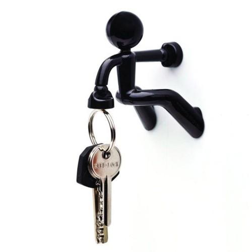 Foto Produk Climbing Boy Magnetic Key Holder - Gantungan Kunci Magnet Orang Panjat - Hitam dari klikmystore