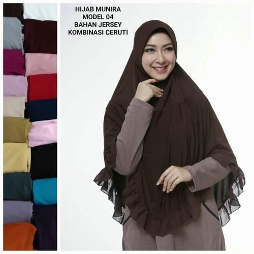 Foto Produk PROMO! Munira Bergo MD 04 Bahan Jersey Spandek Size S-M-L dari FarraShop