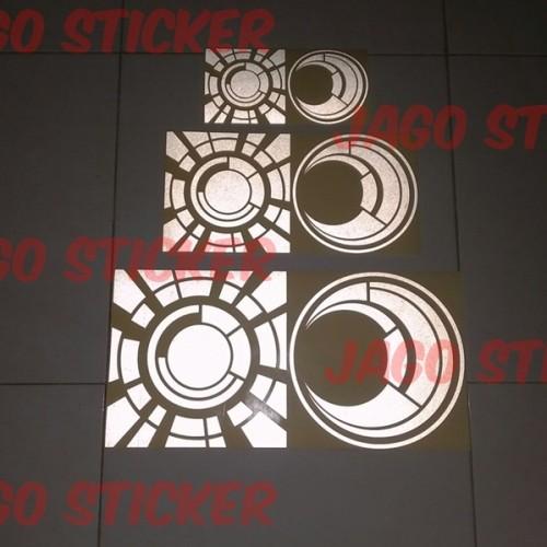 Foto Produk Stiker / Sticker Cutting Visor Helm Motor Mobil SUN and MOON ROSSI dari Jago Sticker