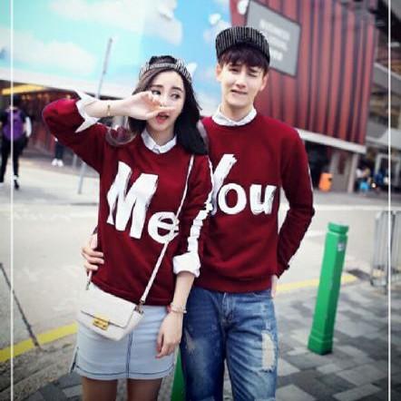 Foto Produk SWEATER COUPLE YOU N ME MAROON dari Jakarta Couple
