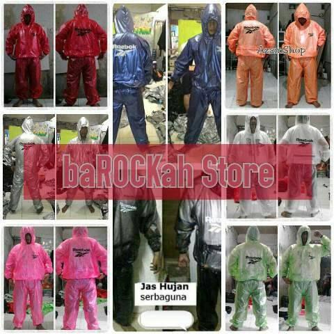 Foto Produk jaket+Celana Sauna Suit Reebok Multi Jas Hujan dari baROCKah Store