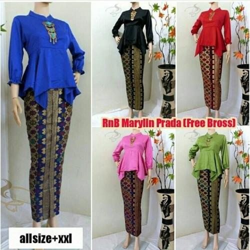 Foto Produk RnB Kebaya Batik Muslim marlyn motif prada dari Aura Batikku
