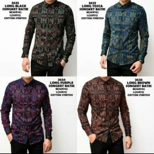 Foto Produk Batik Pria SLIMFIT | Batik lengan panjang dari one fashion93
