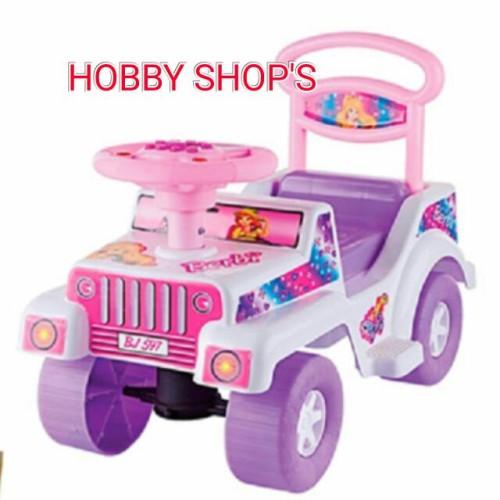 Foto Produk MAINAN MOBIL DUDUK BARBIE/ MOBIL DORONG BARBIE/ RIDE ON CAR/SHP BJ 597 dari HOBBY SHOPs