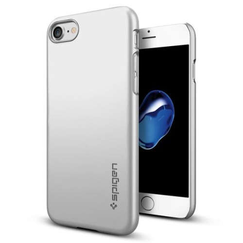 Foto Produk Spigen iPhone 7 Case Thin Fit - Satin Silver dari Get Widd