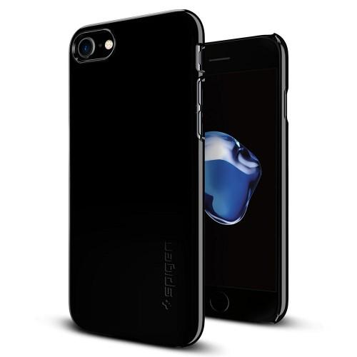 Foto Produk Spigen iPhone 7 Case Thin Fit - Jet Black dari Get Widd