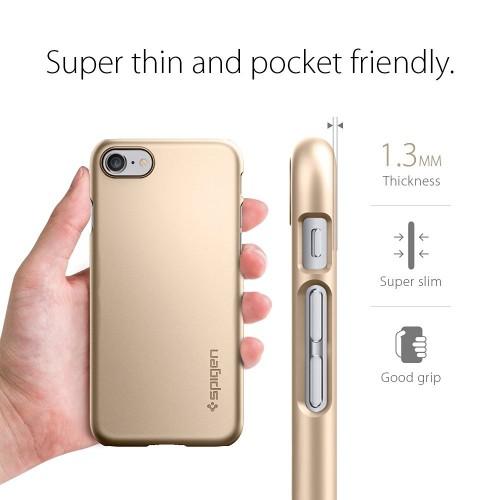 Foto Produk Spigen iPhone 7 Case Thin Fit - Champagne Gold dari Get Widd