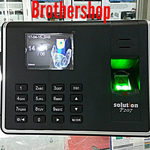 Foto Produk Mesin absensi sidik jari fingerprint SOLUTION P207 dari Brother Toko BROTHER ETW