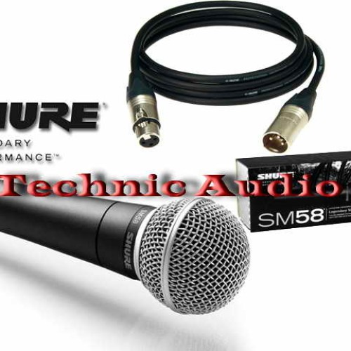 Foto Produk Mic Kabel SHURE SM58 Original Made In Mexico Plus Kabel 5 Meter dari Technic Audio