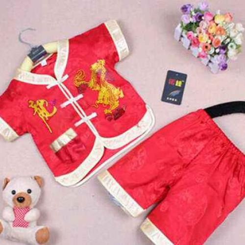 Foto Produk Cheongsam Dragon / Setelan Baju Cina Anak Cowo dari alayistore