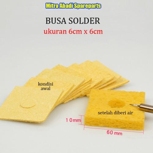 Foto Produk Busa Pembersih/Spons/Sponges Cleaner Mata Solder 6cm*6cm/6*6 cm dari Mitra Abadi Spareparts