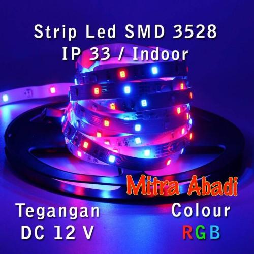 Foto Produk LED Strip SMD 3528 RGB DC 12V IP33 INDOOR ONLY dari Toko Mitra Abadi