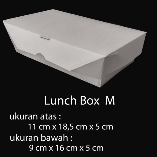 Foto Produk PAPER BOX LUNCH UKURAN M / PAPER BOX KERTAS / PAPER TAKE AWAY - Putih dari BCA AKSESORIS