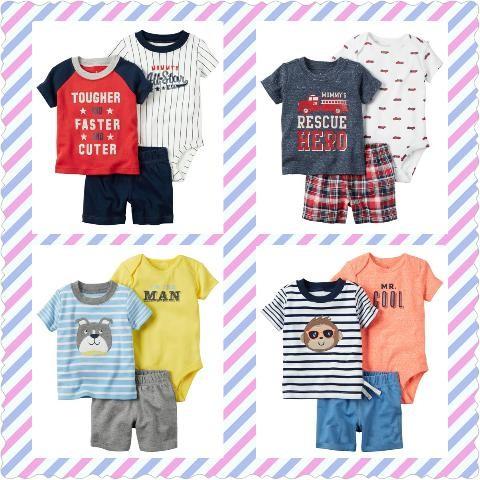 Foto Produk Baju Setelan Anak Cowok Bayi Baby 3In1 Set With Pant Baru dari Tika Sarianda