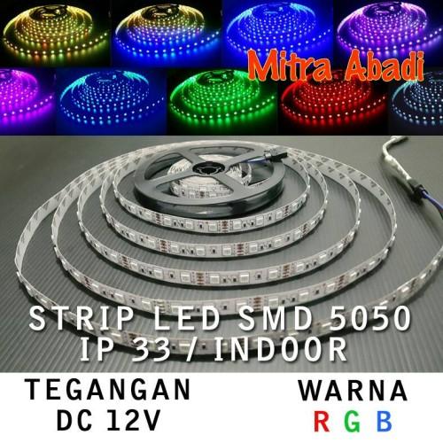 Foto Produk Flexible LED Strip RGB Multi-Colors SMD 5050 DC12V IP33 INDOOR ONLY dari Mitra Abadi LED