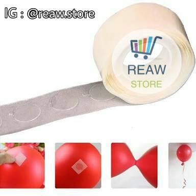 Foto Produk Lem Balon / Perekat Balon / Glue Dot Balloon / Tempelan Balon dari Reaw Store