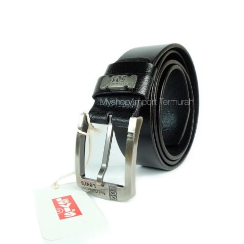 Foto Produk GESPER IKAT PINGGANG KULIT ASLI BRANDED IMPORT LEVIS 501 TP BLACK dari Toko Import Termurah