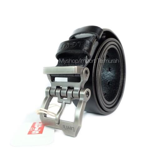 Foto Produk GESPER IKAT PINGGANG KULIT ASLI BRANDED IMPORT LEVIS 501 BLACK dari Toko Import Termurah