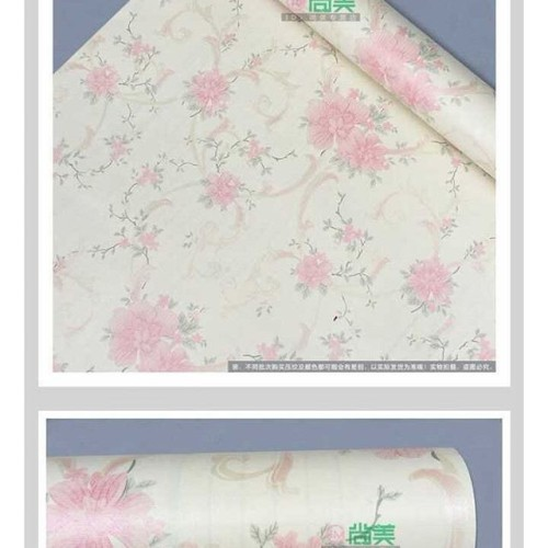 Foto Produk F18 Wallpaper Sticker Bunga Cream uk. 45cm x 10m dari Elyzavita San