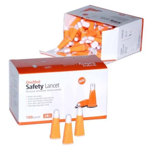 Foto Produk Safety Lancets 28G OneMed box isi 100pcs dari OneMed-Medicom