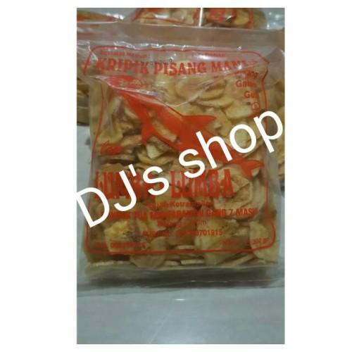 Foto Produk keripik pisang manis cap lumba lumba/ keripik pisang cap lumba 300 gr - Manis Utuh dari DJ's shop online