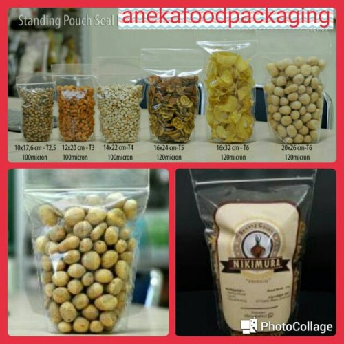 Foto Produk Plastik klip kemasan berdiri/standing up pouch 10/17 bening (50lbr) dari anekafoodpackaging