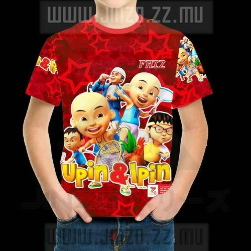 Foto Produk Kaos Anak Upin dan Ipin 3 Merah dari Jinzo Series