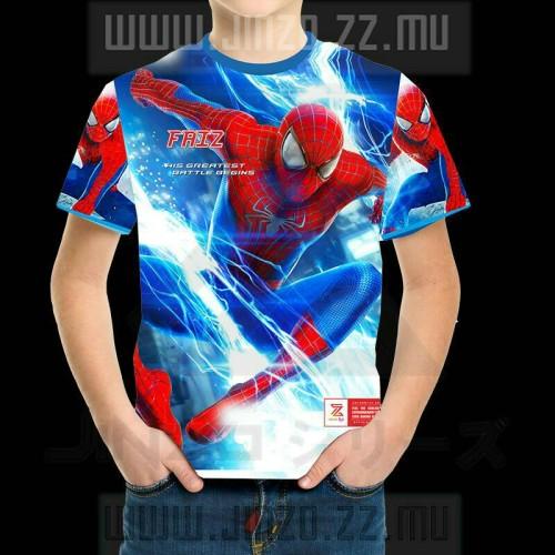 Foto Produk Kaos Anak Avengers 4 Spider Man 4 dengan Nama Anak dari Jinzo Series