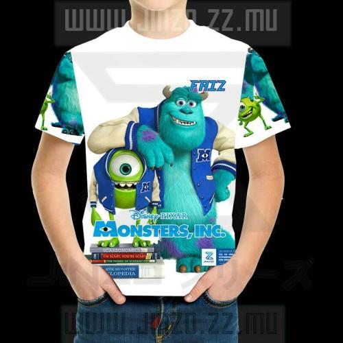 Foto Produk Kaos Anak Monster Inc 1 dengan Nama dari Jinzo Series