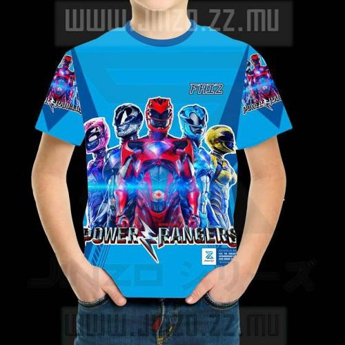 Foto Produk Kaos Anak Power Rangers 3 Biru dari Jinzo Series