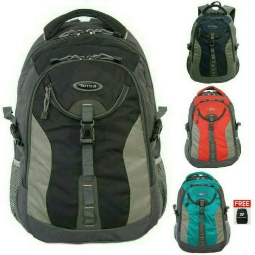 Foto Produk tas ransel laptop sporty/cassual navy club 6263 + RAIN COVER dari rumah kulit import