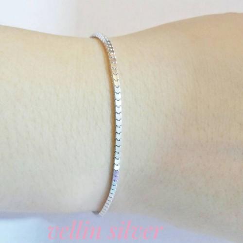Foto Produk gelang tangan milano/perhiasan perak silver 925 lapis emas putih dari vellin silver