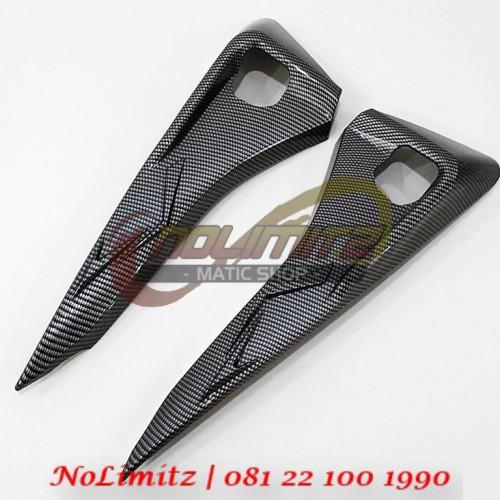 Foto Produk Cover / Tutup Pijakan Step Belakang NEMO Carbon Yamaha Aerox 155 dari NoLimitz Maticshop