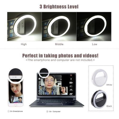 Foto Produk Selfie Ring Flash Fill Light Clip Camera dari Vision Multicom