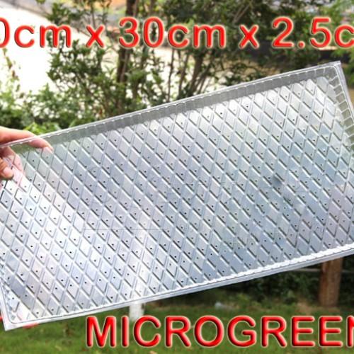 Foto Produk Tray semai pot bibit pembibitan microgreens wheat grass sprout TIPIS dari Biji Benih