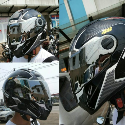 Foto Produk Visor SILVER Zeus ZS-811 dari Moto Gear