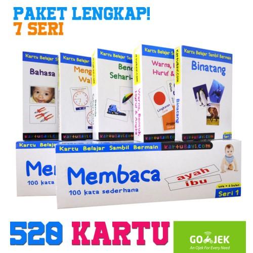 Foto Produk FlashCard Paket LENGKAP 520 Kartu - Indonesia, Inggris (Kartu Bayi) dari Tasneem