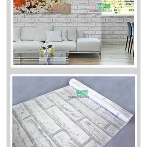 Foto Produk R15 Wallpaper Sticker Bata Putih uk. 45cm x 10m dari Elyzavita San
