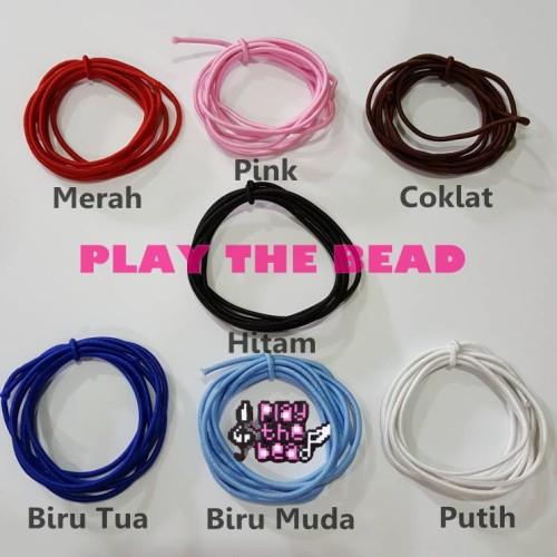 Foto Produk Tali Elastis 1,5mm. Tali Melar - Cokelat dari Play The Bead