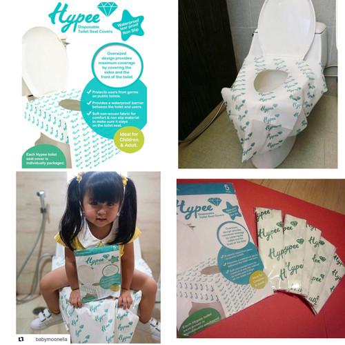 Foto Produk Toilet Seat Cover Disposable Alas Duduk Kloset Umum HYPEE (PACK isi 5) dari Papamama Babyshop