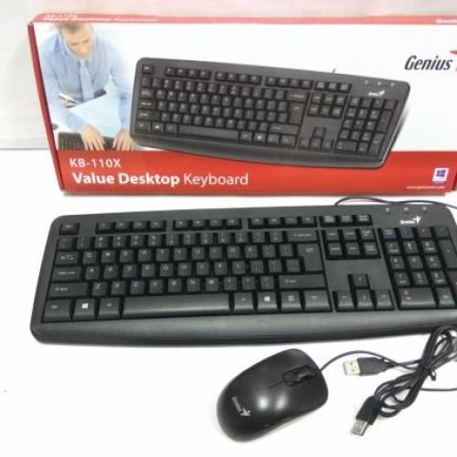 Foto Produk Paket Keyboard Mouse USB Genius KB 110 dari ide komputer