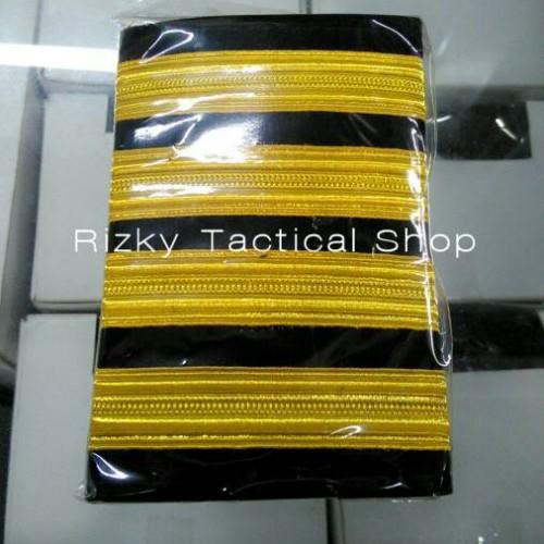 Foto Produk Pangkat Pilot Bar 4 Emas/PangkatPenerbangan dari rizky tactical shop